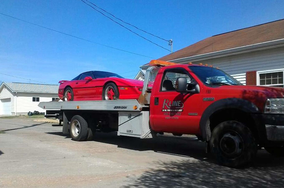 corvette low profile tow truck washington pa