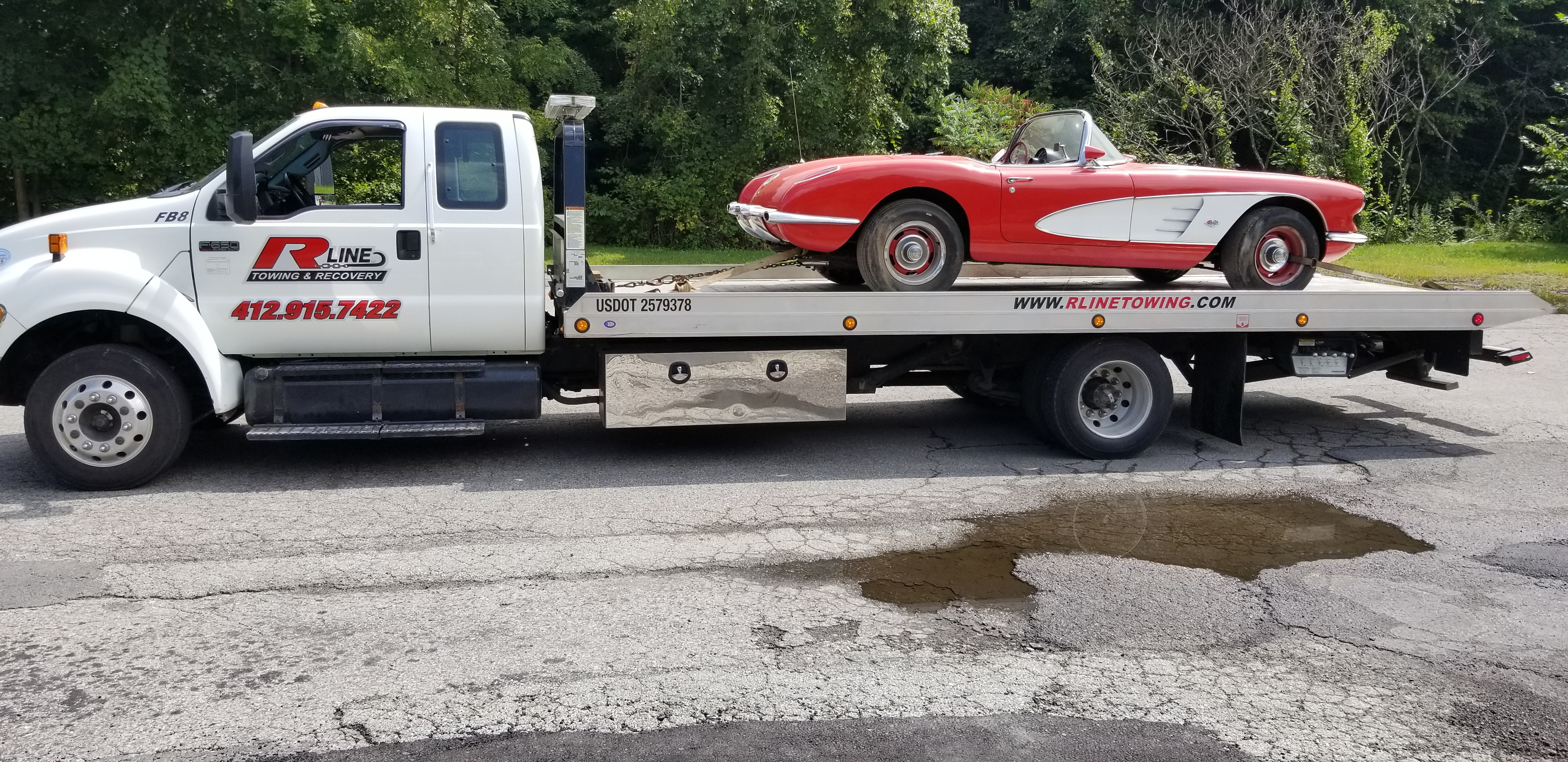 corvette-towing