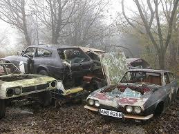 abandoned vehicle yard